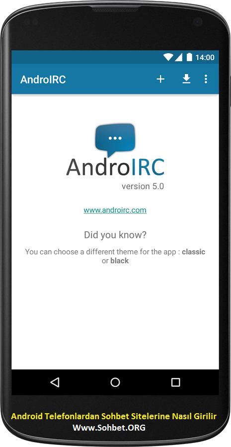 Android Telefonlardan Sohbet Sitelerine Nasıl Girilir. Sohbet.ORG