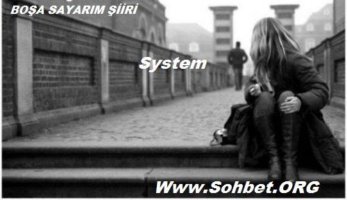 SOHBET.ORG  -  BOŞA SAYARIM ŞİİRİ