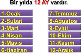 Türkçe ay isimleri